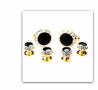 Multi-purpose custom made cufflinks and studs set