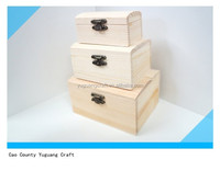 new designed unfinished small wooden box with arched lid wholesale
