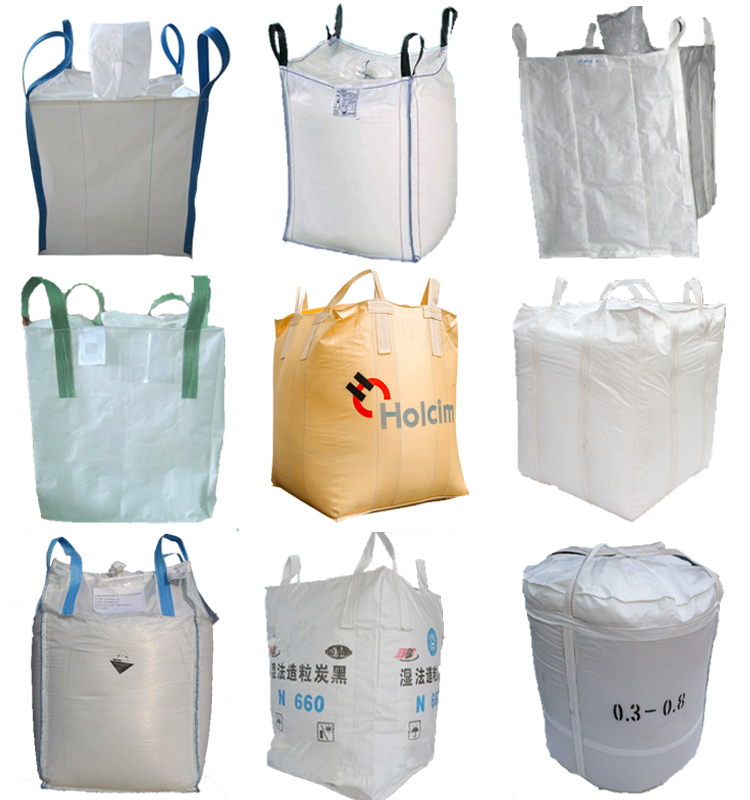 white 1000kg   ton big jumbo FIBC super bag for transport packing