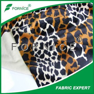 100% polyester upholstry tricot tiger print fleece fabric
