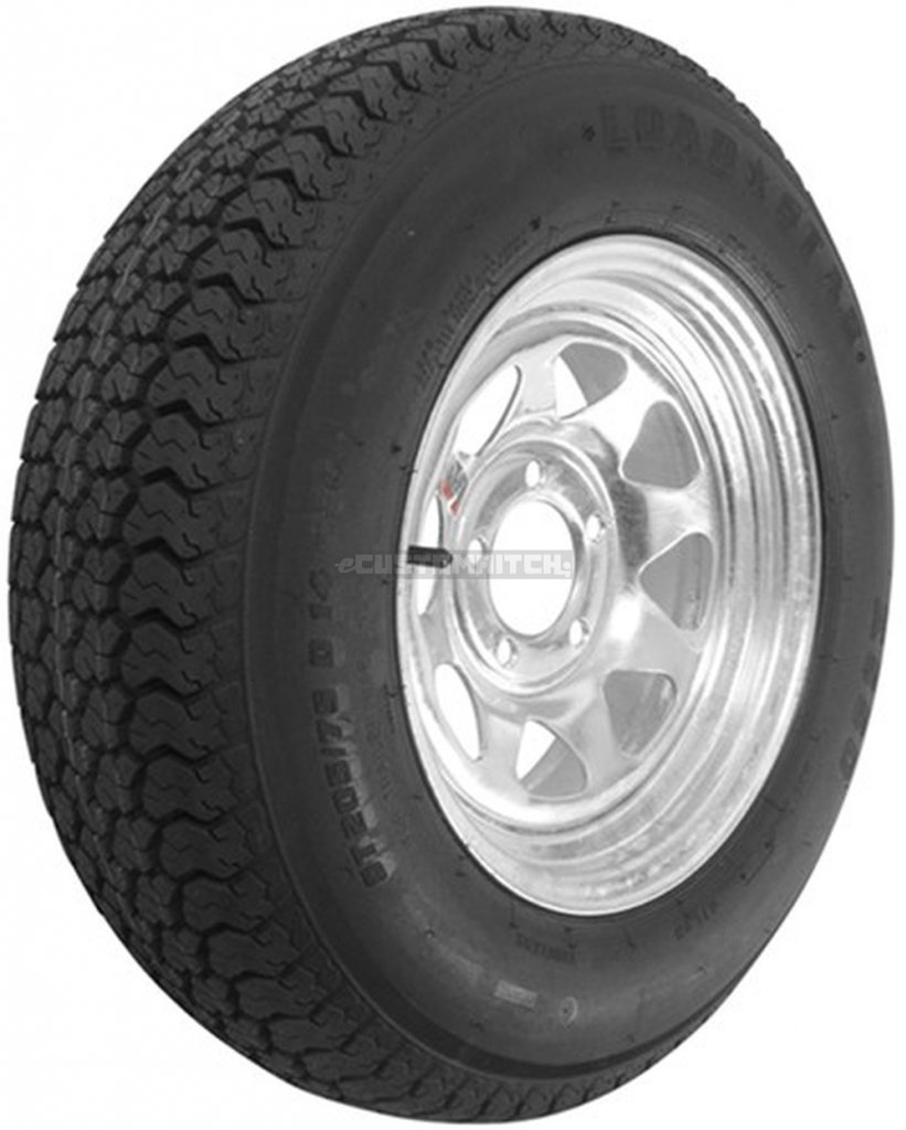 "eCustomRim Trailer Wheel & Tire #366 ST205/75D14 205/75 D 14"" LRC 5 Bolt Galvanized Spoke"