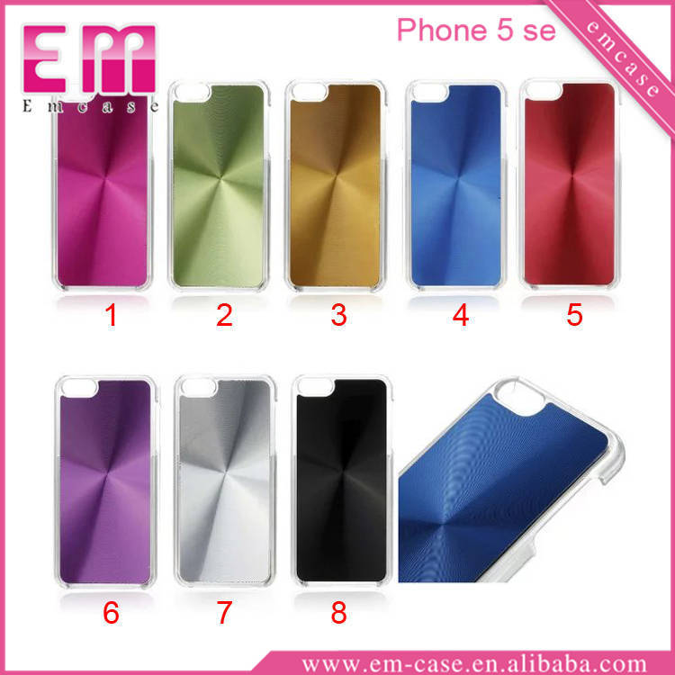 Super Slim Solid Color Sticker CD Pattern Cover TPU Case For iPhone 5 Se