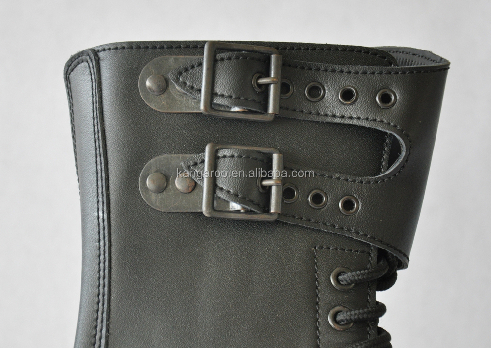 Black Genuine Leather Steel Toe Military Rangers/military Leather ...