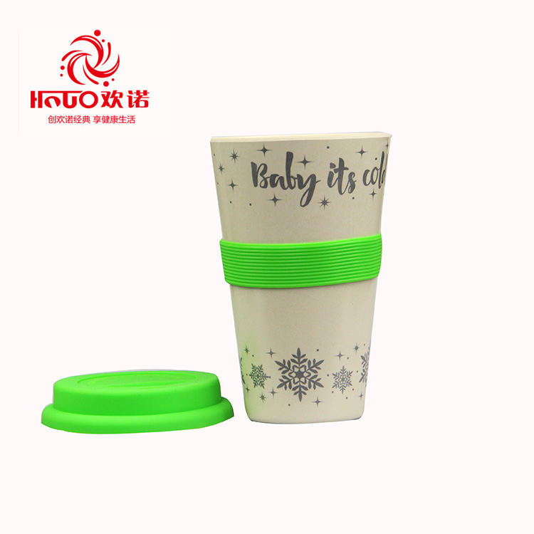 Food grade Eco friendly 420ml bamboo fiber custom coffee cups