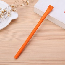 2017 New style best quality orange color promotional plastic ball pen