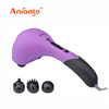Electric Handheld massager with 3 replaceable massage heads