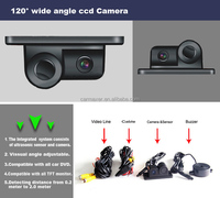 2in1 Rear View Car Parking Sensor System Front Camera With Parking ...