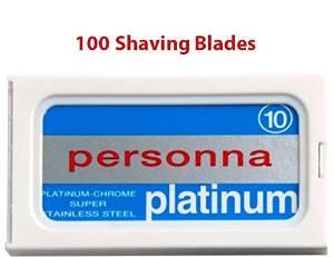 100 Israeli Personna Stainless Steel Double Edge Blades- Safety Razor - Double Edge Razor Blades - Personna Razor Blades
