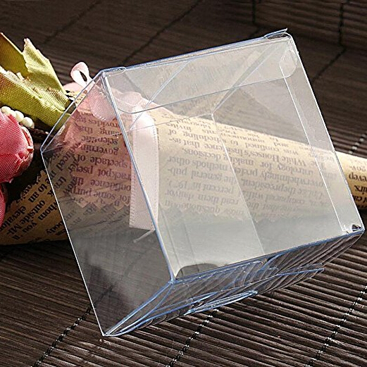 Pvc Clear Square Plastic Folding Packaging Boxes For Party