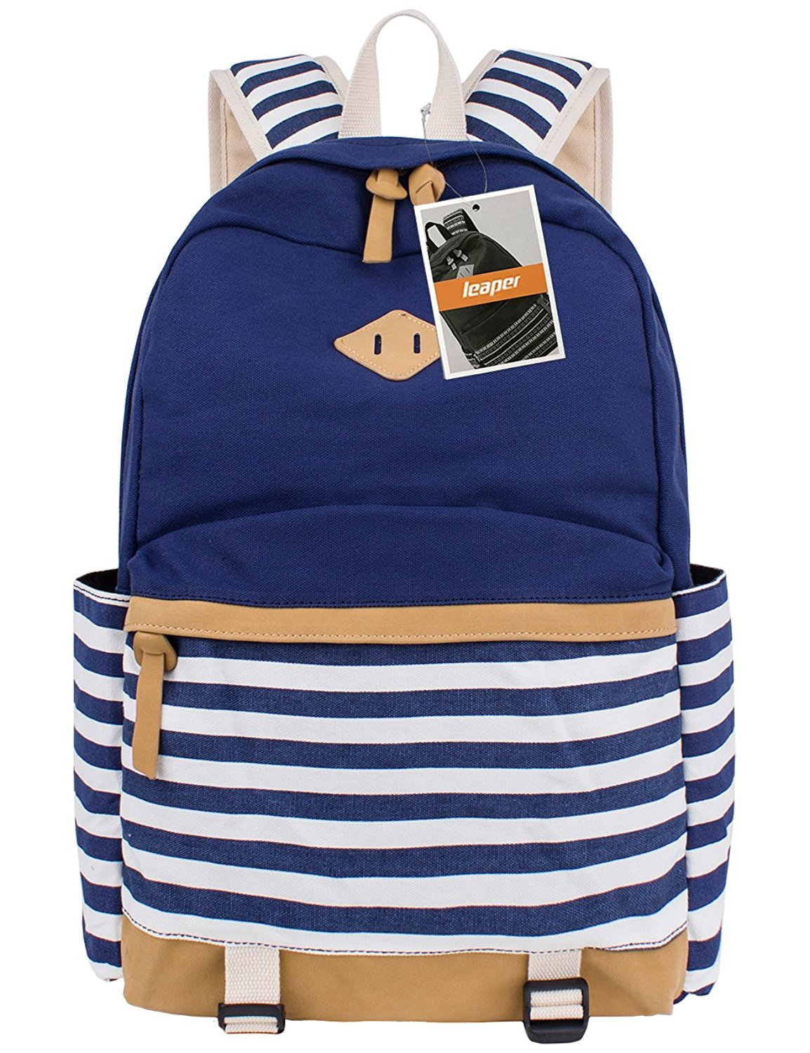2e6f86db29 Leaper Cute Thickened Canvas School Backpack Laptop Bag Shoulder Daypack  Handbag