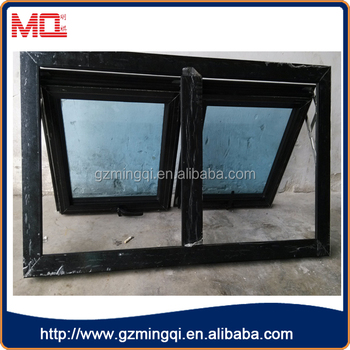 black color profile single pane small bathroom hung window