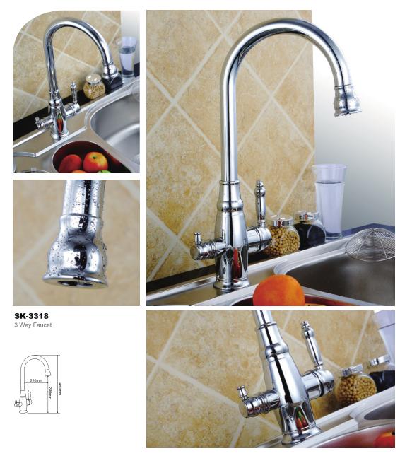 Skfirm Tri-flow 3 Forma Cocina Grifo Del Fregadero Con Agua Potable ...