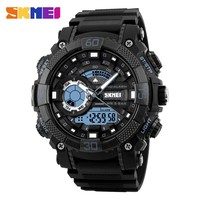 SKMEI 1228 Men Sport Watch Chronograph Alarm Waterproof Relogio Masculino LED Digital Wristwatches Dual Display Watches