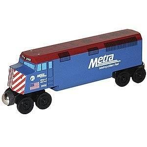 Whittle Shortline Railroad - Metra F-40 Diesel Engine Car Wooden Train - 56311