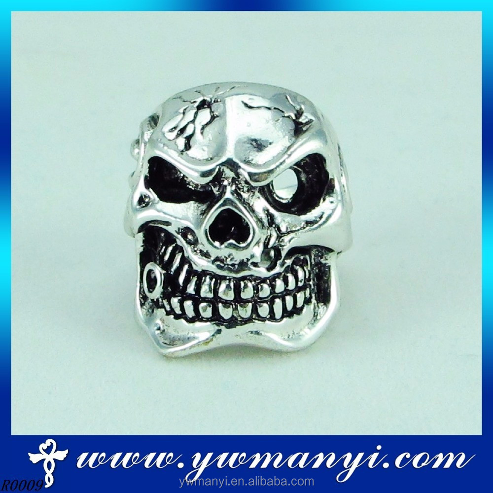 Jewelry manufacturer china direct alibaba best sellers silver skull ring R9