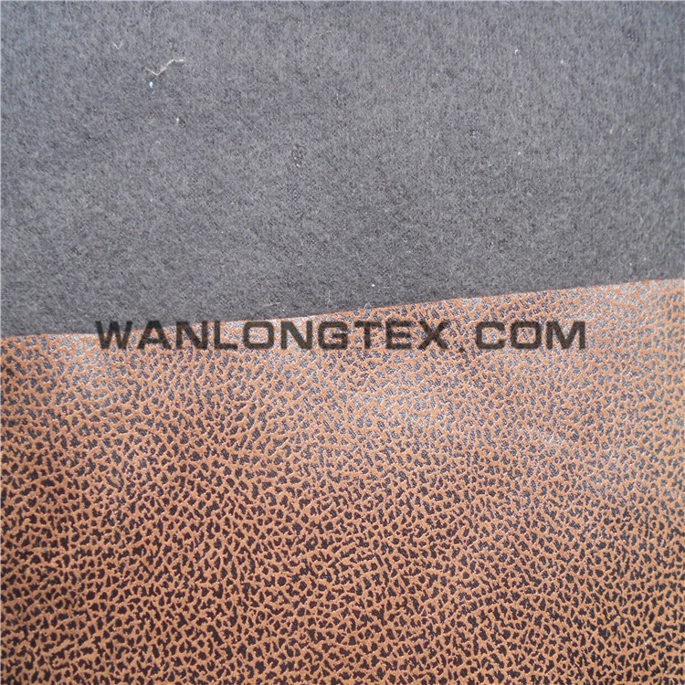Factory Wholesaler bronzed faux suede fabric