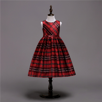 girls plaid skirt in red and green children christmas look with velvet coat - Girls Plaid Christmas Dress