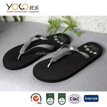 hotel disposable sandals flip flop slipper with customized logo printing