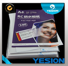 Yesion Premium RC High Glossy High Brightness Photo Paper Inkjet Double Side Waterproof A3 A4 RC Photo Paper 4*6
