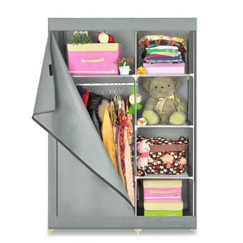 Cheap Folding Fabric Closet Cabinet Bedroom Furniture Wardrobe ...