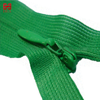 Dongguan Wholesale No.3 mesh tape Invisible Zippers with waterdrop puller for women dress