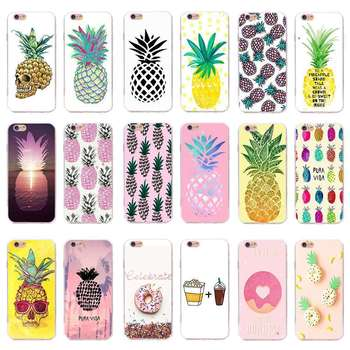 fruit different Pineapple custom Printed silicone tpu Rubber clear transparent Phone Case cover for iPhone 5 6 6s plus 7 8 Plus