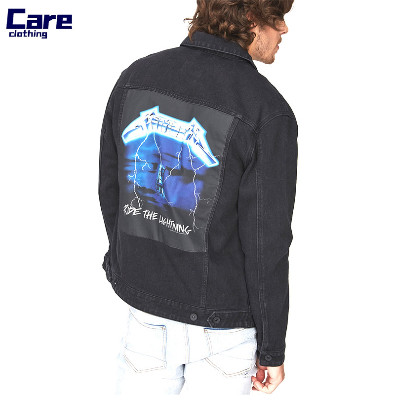 88641b608 Oem Factory Back Print Black Mens Custom Denim Jacket - Buy Custom Denim  Jacket,Black Denim Jacket,Back Print Jacket Product on Alibaba.com