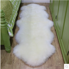 pure white sheep wool carpet for sofa bed use chair seat cushion hotel sheepskin rug blanket