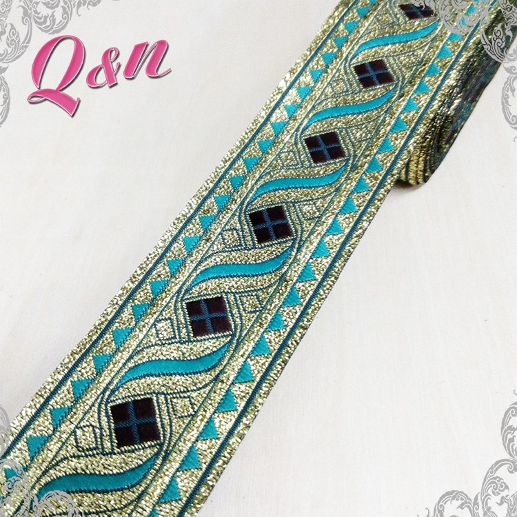 High Quality Elastic Jacquard Ribbon Embroidered Trim