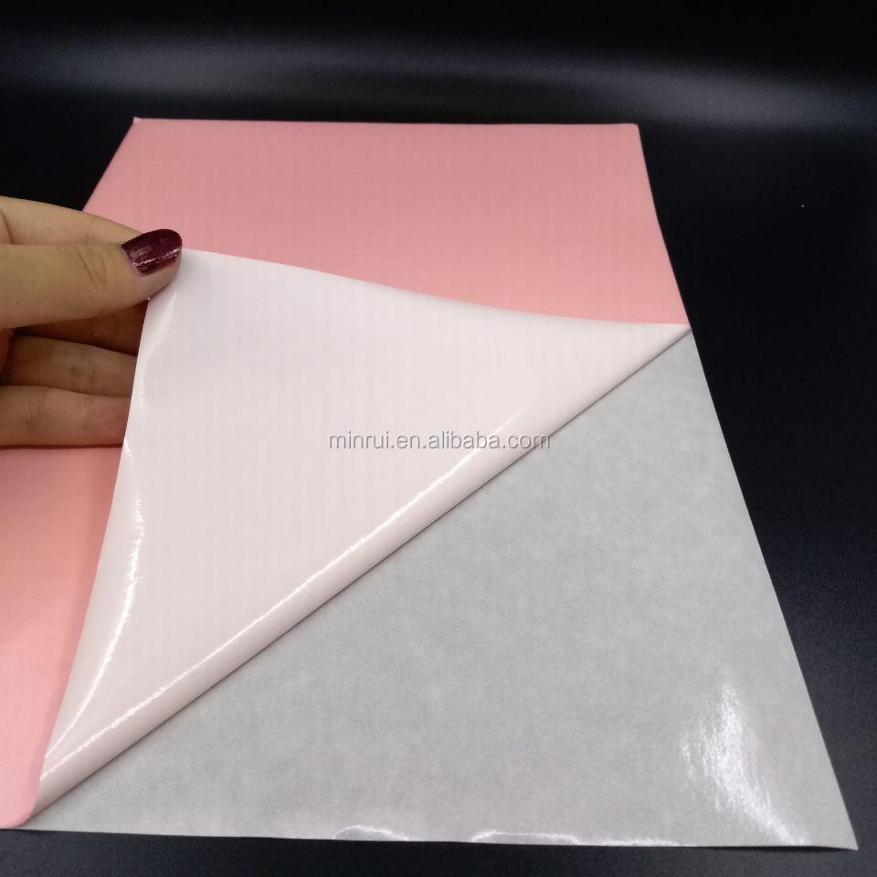 A4 Size Pink Color Destructible Eggshell Sticker Security