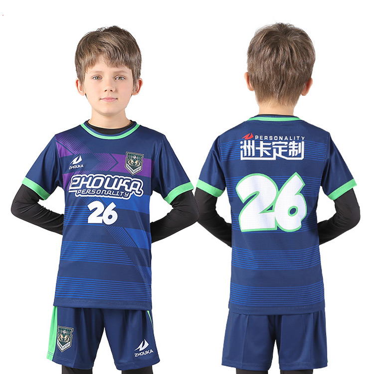 Wholesale youth jersey Blank football team shirt Sublimation soccer uniform adult Custom Football Jersey