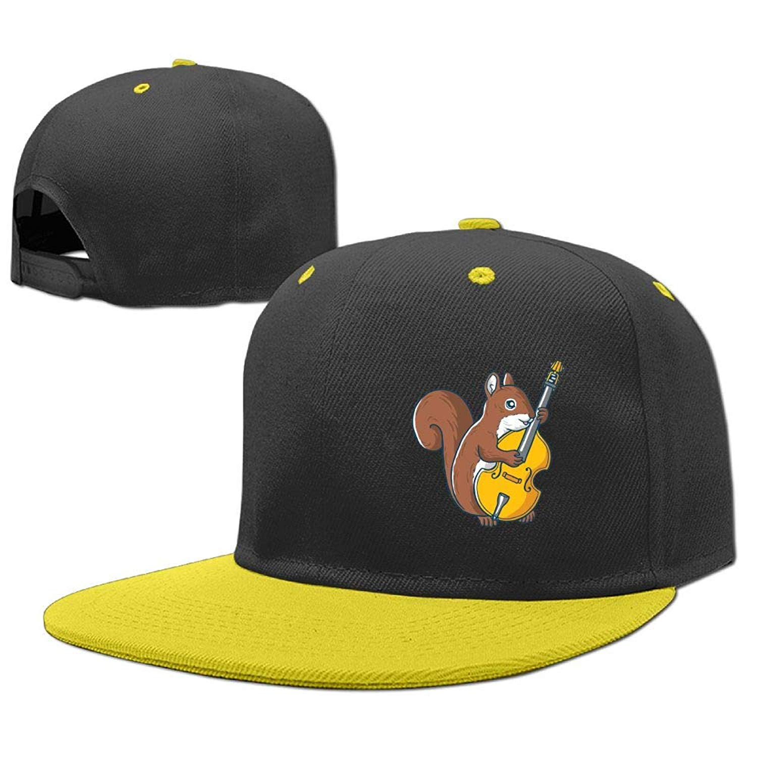 bbd14d2e234 Get Quotations · LOGENLIKE Squirrel Playing Guitar Kids Snapback Hat - Hip  Hop Baseball Cap for Boys Girls