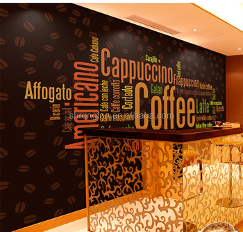 Custom Adhesive Paper Removable Coffee Shop Decor Vinyl