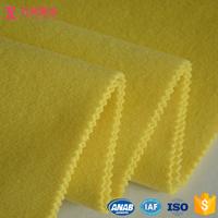 lemon yellow 60%wool 30%polyester 10%nylon brushed twill velvet wool fabric by yard