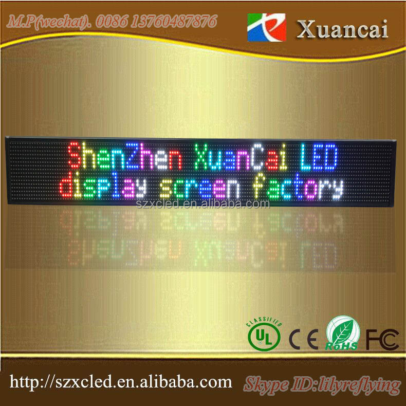 Cheap20% full color or single two lines USB programmable LED sign board manufacturer 16x160 RGB 5V or 12V LED indooruse RGB sign
