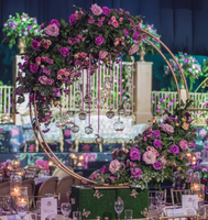 2019 new tall rose gold metal flower stand wedding centerpieces for weddings