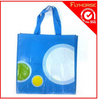 PP woven laminated tote bag for shopping and gift packing