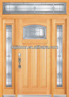 Luxury 3 Lite Wood Exterior Doors With Transom DJ-S9712MSTHS-2