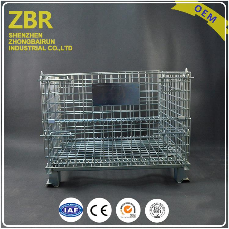 industrial fabricated stackable metal pallet high quality storage baskets cage container