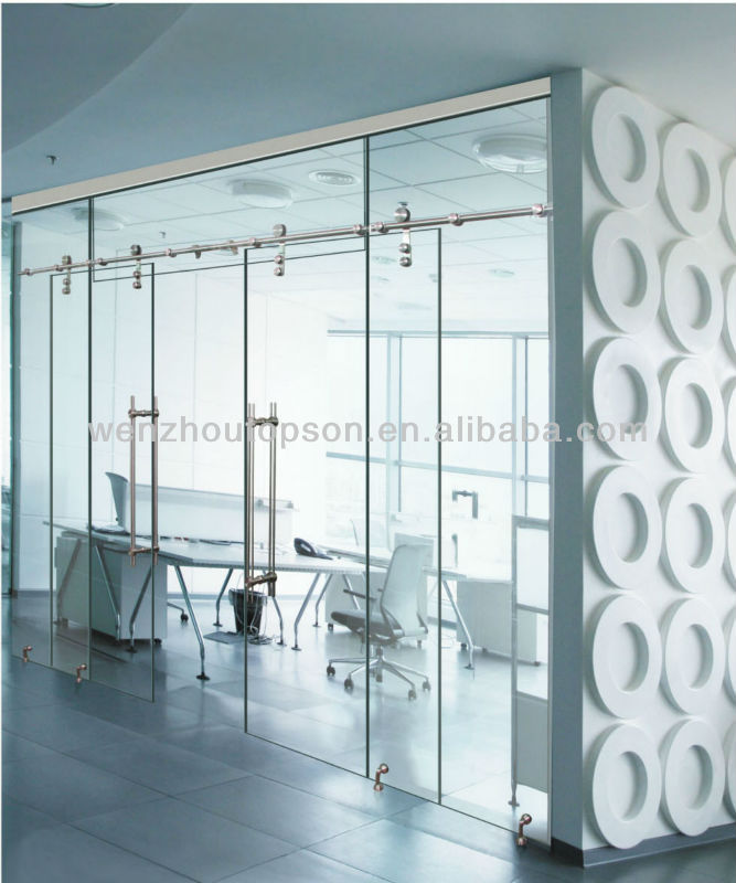 Frameless Glass Sliding Doordouble Panels Doorsglass Partition