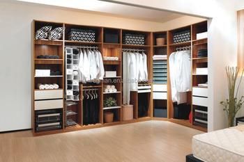 modern bedroom furniture l shaped wood grain open wardrobe closet sale - Wardrobe Closet
