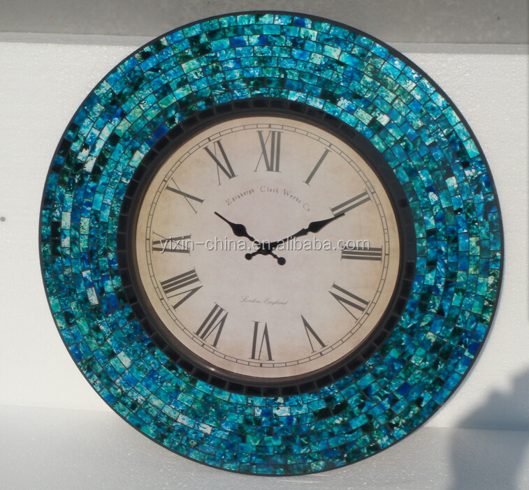 european high quality mosaic wall clockold style wall clock decorative outdoor clock
