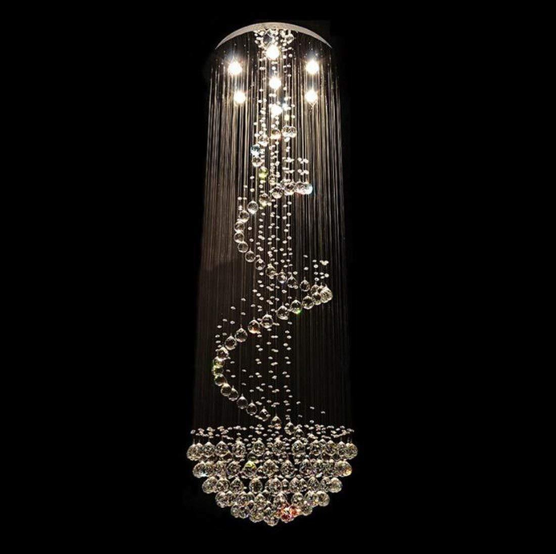 Led Crystal Lamp Round Villa Stair Lamp Hotel Front Desk Lamp Double Floor Lamp Creative Living Room Lamp 110V-220V (Color : 5W LED Warm White Bulb)