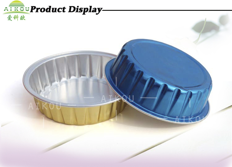Ovenable And Microwavable Aluminum Foil Baking Use Cake Cup