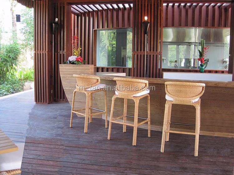 Impilabile in rattan di vimini esterna giardino cucina bar