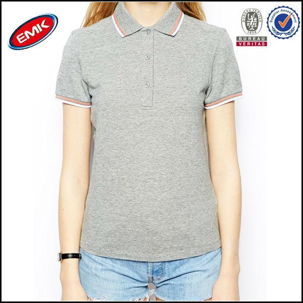 China Factory Women Cotton Blank Polo T-Shirt