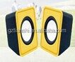 Fashionable Style mini speaker !!! 2.0 CH USB supply computer speaker