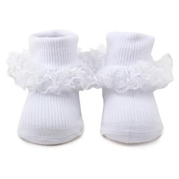 Cute 100 Cotton 2pk Baby Plain White Lace Socks Buy Lace Baby