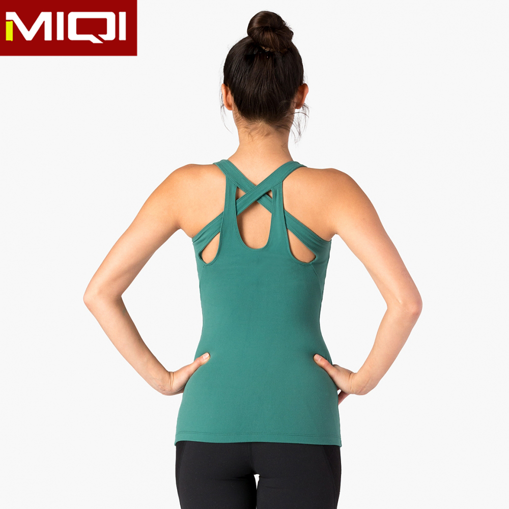 2016 newest design high quality women fitness yoga wear Nylon Spandex wholesale running singlet yoga tank tops