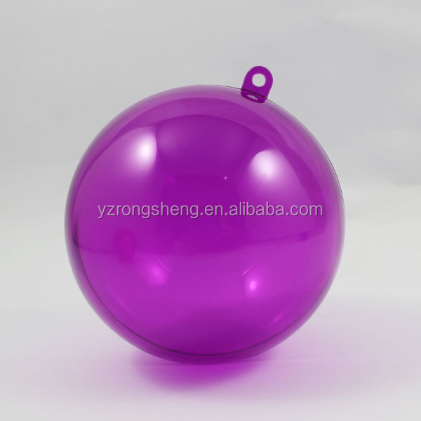 promotional wholesale clear plastic christmas ball ornaments